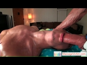 Guy getting the gay massage of his life