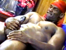 Muscular black guy s..