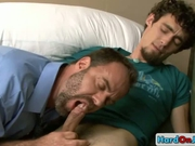 Two great guys making out on bed by hardonjob