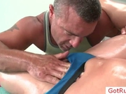 Guy gets cock oiled for massage by gotrub