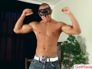 Amazing latin hunk showing his body