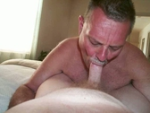 Mature men having some cock sucking fun