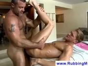 Big Daddy Masseuse Buries Cock In My Ass