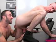 Muscular englishman felching bum