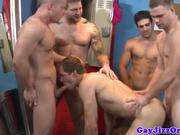Athletic homos locker room fuck fest fun