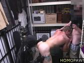 Hot hunk dude is convinced to suck dick