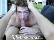 ManRoyale Hot guy comes back home for a good