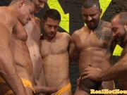 Masculine studs enjoy flesh picnic