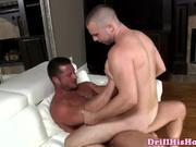 Gay muscle man fucks a bottom peg b-y