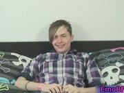 Cute gay emo guy wanking