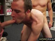 Naked fitness traner gets anal nailed