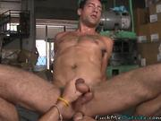 Fucking inside his friends warehouse