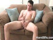 Attractive guy pleasures himself