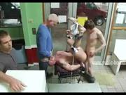 Strong gay men gangbang sex video