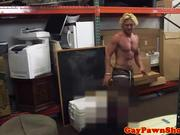 Pawnshop surfer stripping for extra cash
