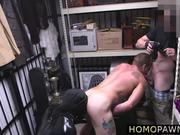 Hunk musician takes dicks