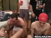 Three frat b-y hunks suck cock