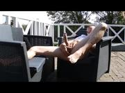 Jerk Off On The Terrace