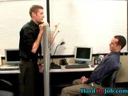 Gay hardcore porn at the office