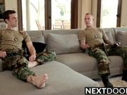 Straight Military Hunk Fucks Gay Friend
