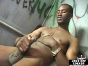 Hot black guy loves to play with cock
