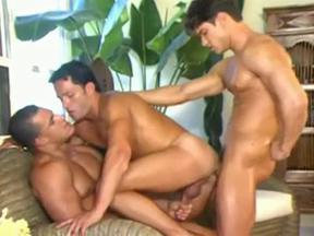 3way gay porn Take a sneaky peek, for more  bareback gay movies.
