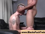 Gay guy amateur gets interracial ass