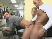 Horny guys fuck at convinience store