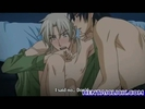 Horny anime gay kiss..