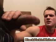 Mesmerized by a huge black cock