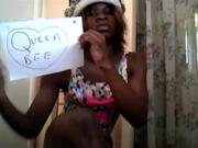 Black Drag Queen Shows Off on Webcam