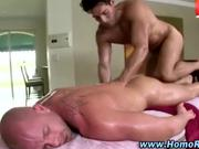 Intimate gay straight massage
