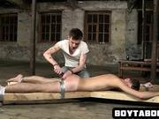 Tied up stud getting toyed