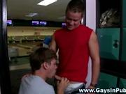 Gay jock cock serviced by