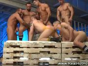 Hot Orgy with Muscle Hunks