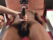 Big black cock needs a helping hand