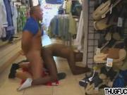 Thug gets fucked in store