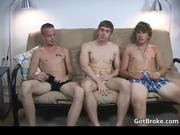 Great gay 3some with three aroused hunks