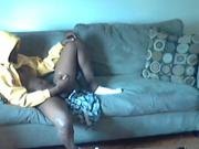 Home Strokes His Amateur Dick on Couch