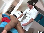 Hot erotic massage leads to amazing bare