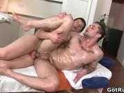 Great gay anal fuck after erotic massage