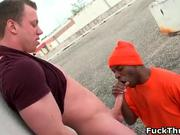 Horny ghetto thug gets tight ass
