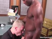 Muscled black stud Thomas gets bj