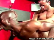 Hunky blacks drilling white dudes ass