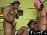 2 guys fuck latina tranny