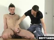Hot stud gets his pubes shaved