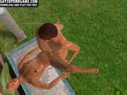 Poolside 3D studs share anal sex