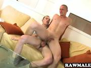 Uncut hunk gets fucked bareback