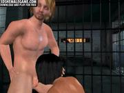 3D shemale honey double teamed