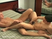 Kinky guys playing with sex toys